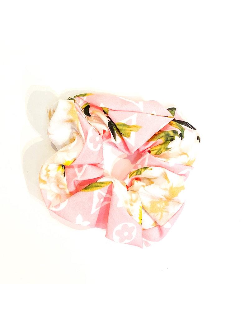 Lauren Rae Pink Designer Inspired Scrunchie