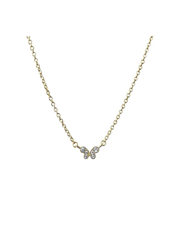 Modern Opus Baby CZ Butterfly Necklace
