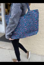 Lauren Rae Teal Leopard Print Tote Bag