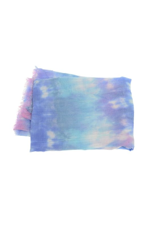 Joy Susan Blue Tone Tie Dye Scarf