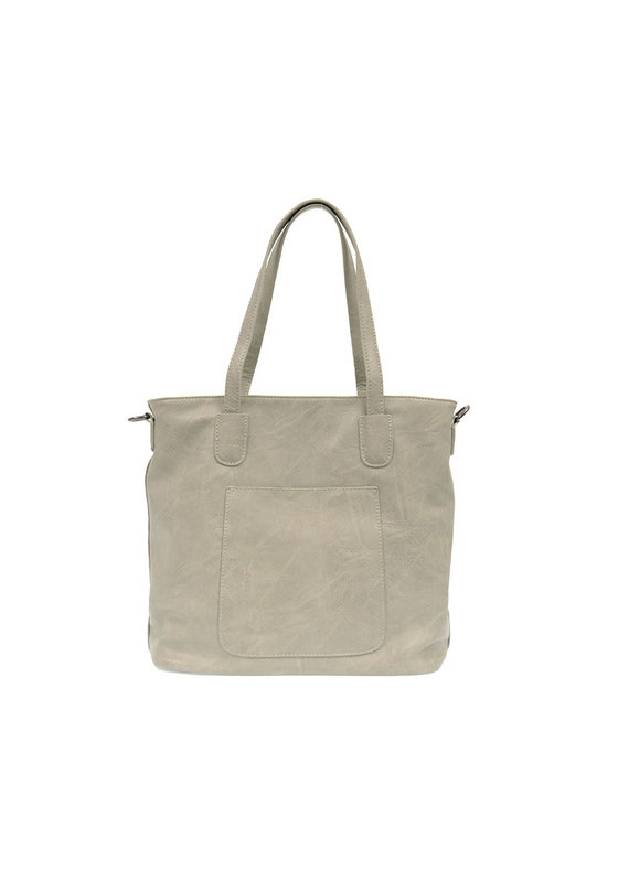 Joy Susan Soft Grey Terri Traveler Zip Tote Handbag