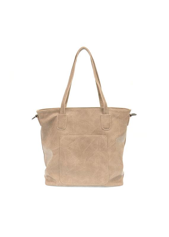 Joy Susan Flax Terri Traveler Zip Tote Handbag