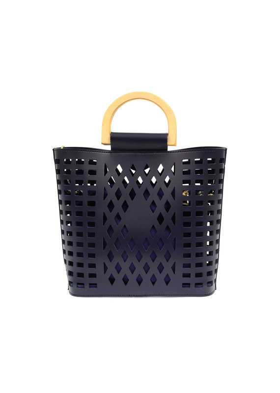 Joy Susan Navy Madison Cut Out Tote