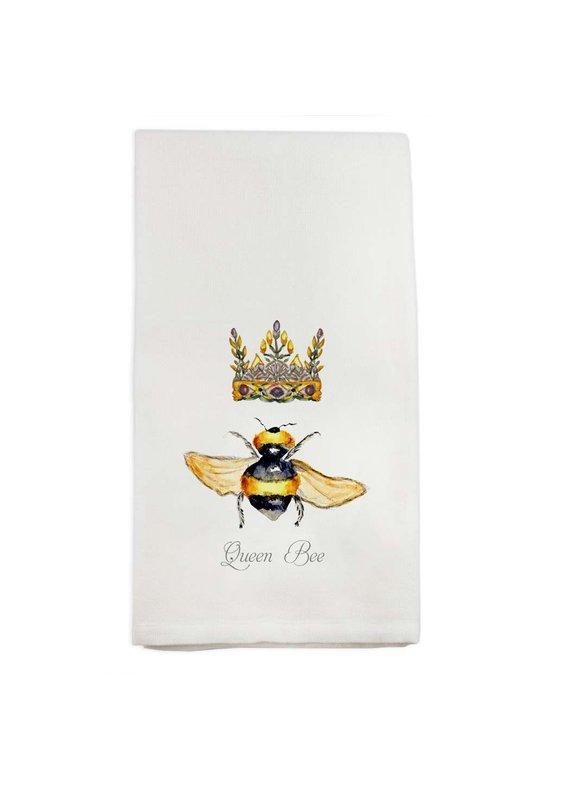 French Graffiti Queen Bee Dishtowel