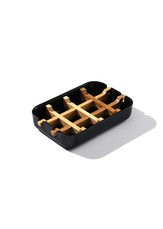 FinchBerry Black + Bamboo Soap Dish
