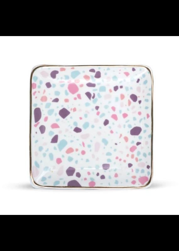 FinchBerry Pastel Terrazzo Ceramic Soap Dish