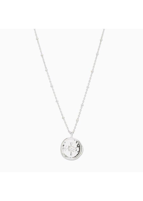 gorjana Silver Compass Coin Necklace