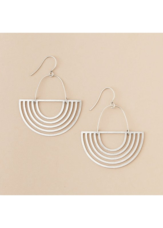 Scout Silver Solar Rays Earring