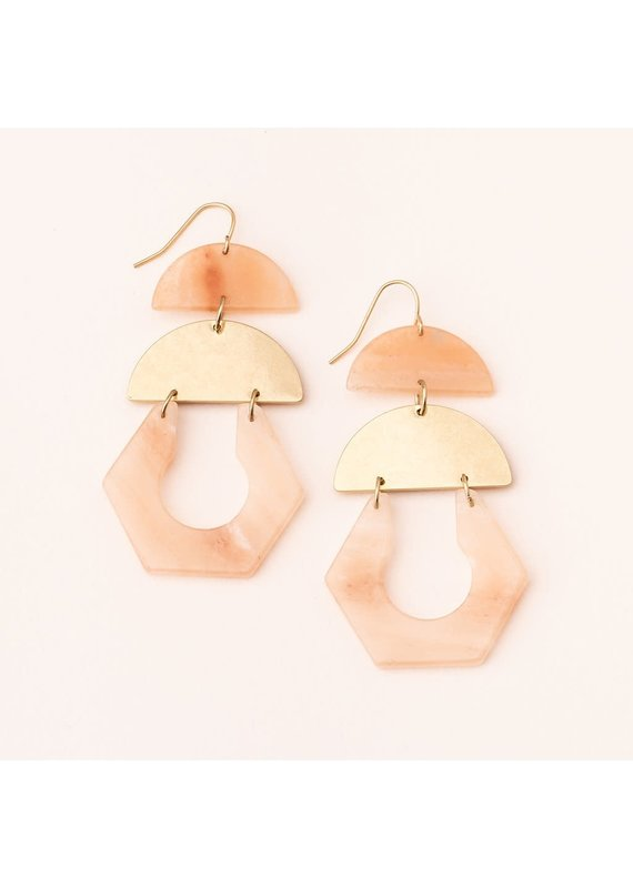 Scout Sunstone & Gold Stone Cutout Earrings