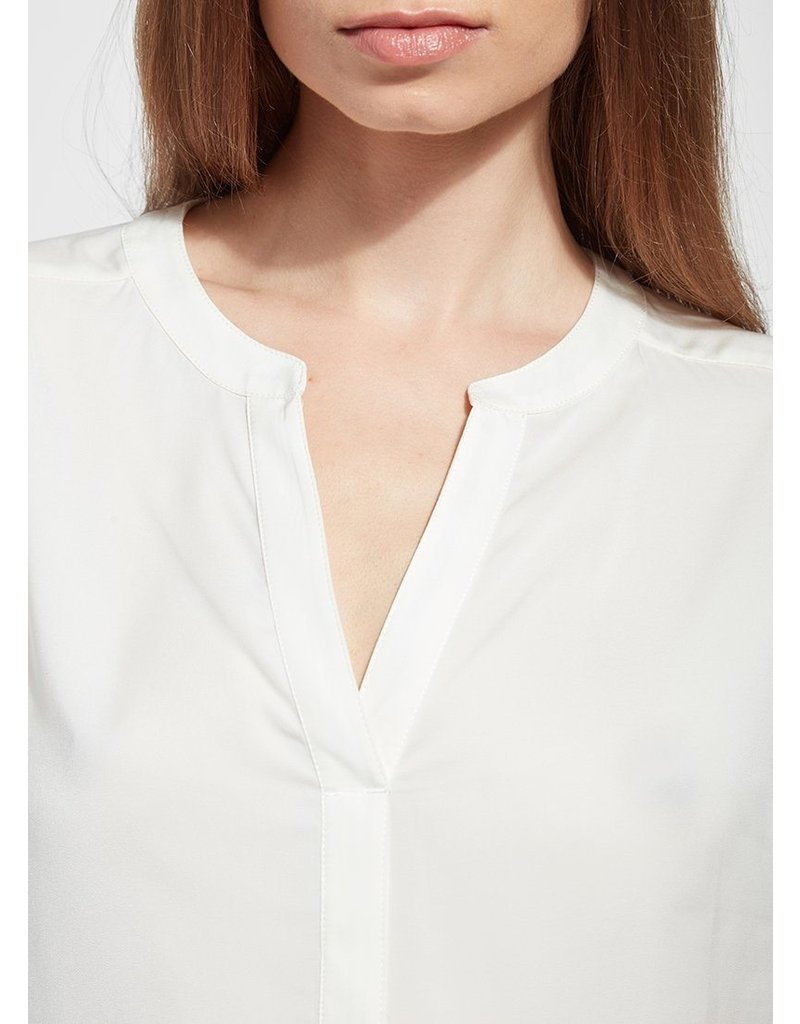 Lysse Off White Leah Short Sleeve Top