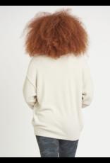 Dex Pearl V-Neck Exposed Seam Sweater