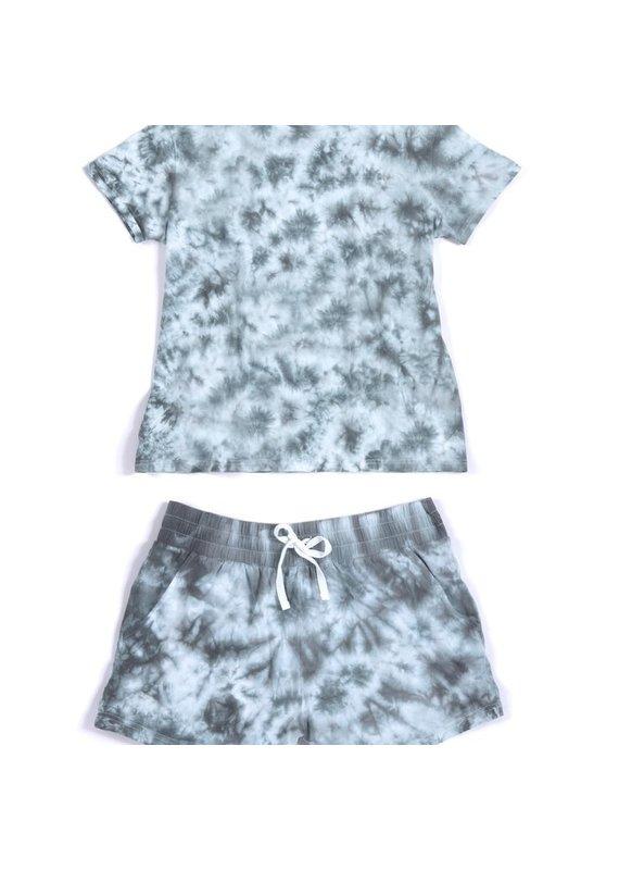 Shiraleah Jamie Tie Dye T-Shirt & Shorts Set in Grey
