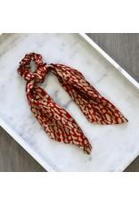 Spice Leopard Print Long Hair Scarf