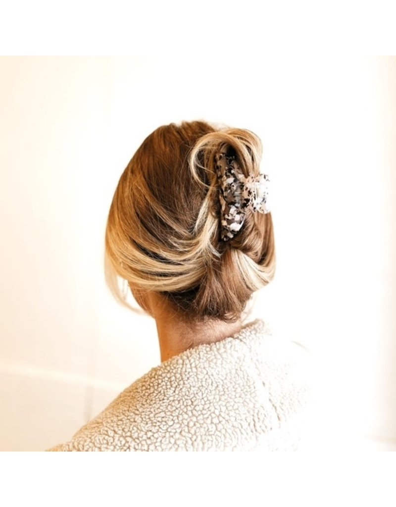 Mocha Tessa Tortoise Hair Claw Clip