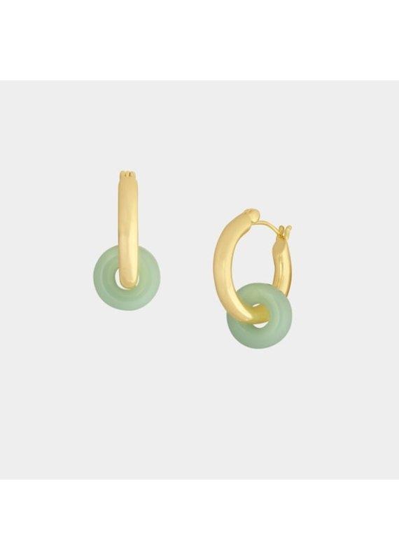 SiiZU Green Gilda Tiny Donut Hoop