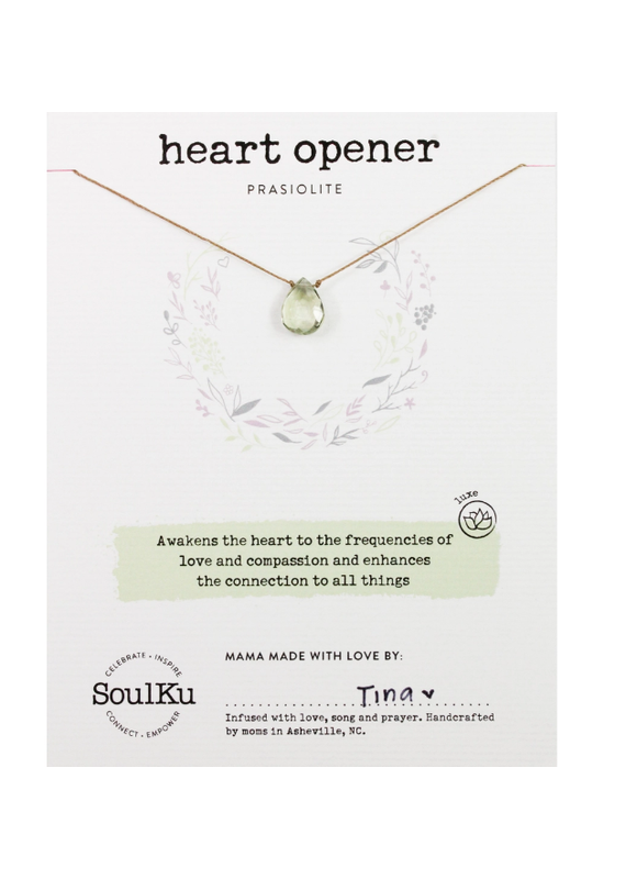 SoulKu Prasiolite Luxe Necklace for Heart Opener