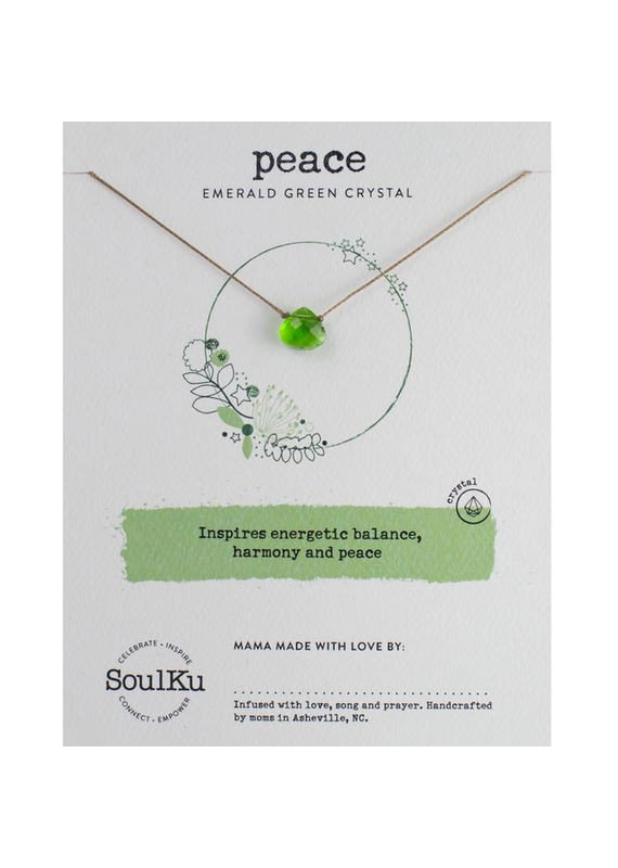 SoulKu Emerald Green Crystal Soul Shine Necklace