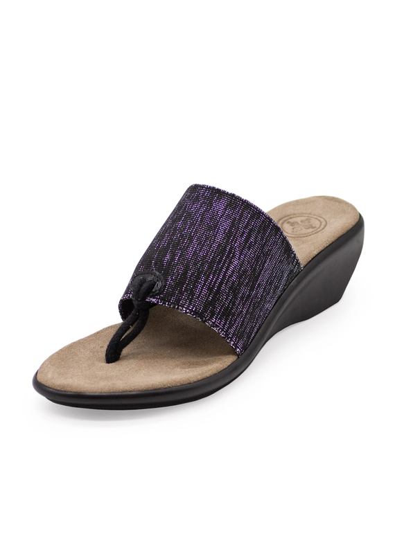 Charleston Shoe Co Hilton Black Metallic Sandals