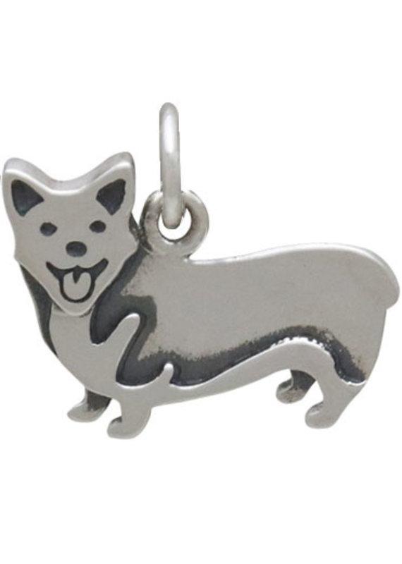 Sterling Silver Corgi Dog Charm