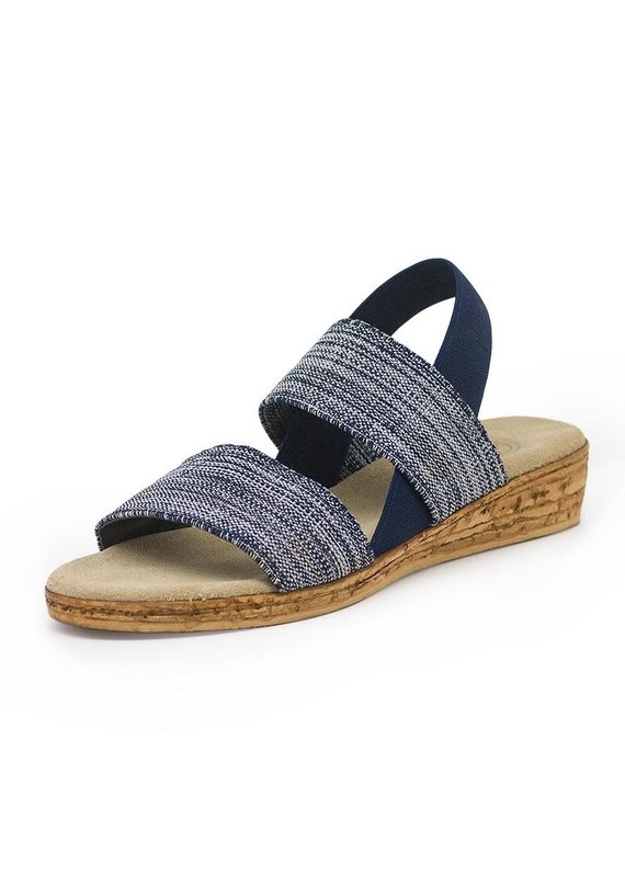 Charleston Shoe Co Collins Denim/Navy Sandal - 7