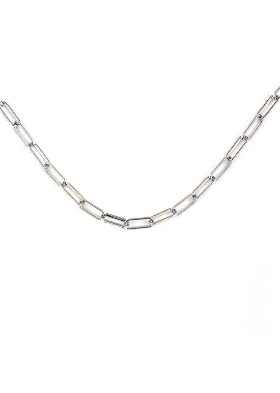 Natalie Wood Designs Rhodium Chain Layering Necklace