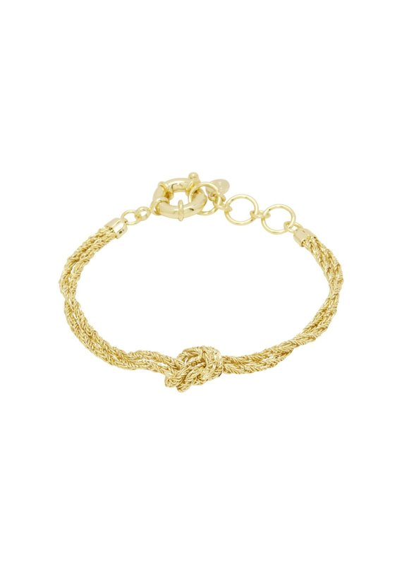 gorjana Fiore Knot Bracelet Gold