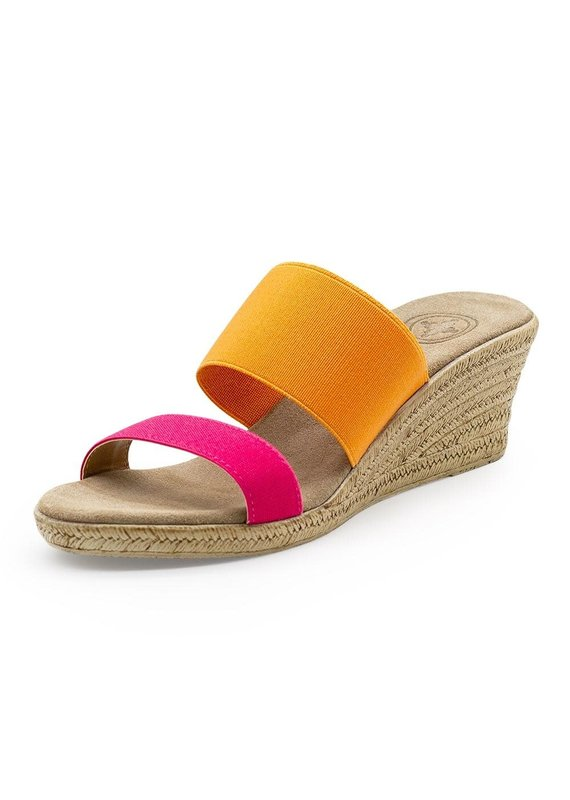 Charleston Shoe Co Backless Cooper Pink + Orange