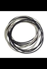 Sea Lily Black & Silver Bangles