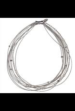 Sea Lily Silver Multi Strand Short Necklace