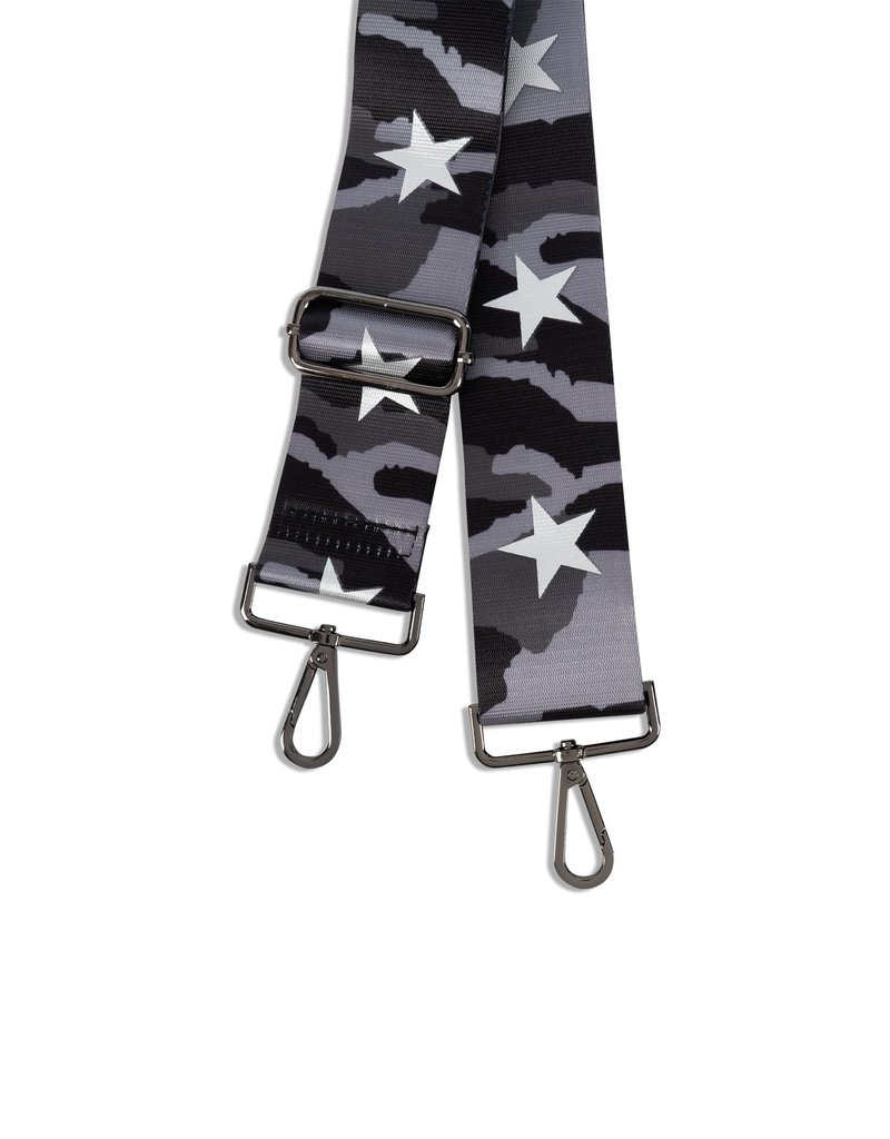 Haute Shore Gray Camo/Silver Star Handbag Strap