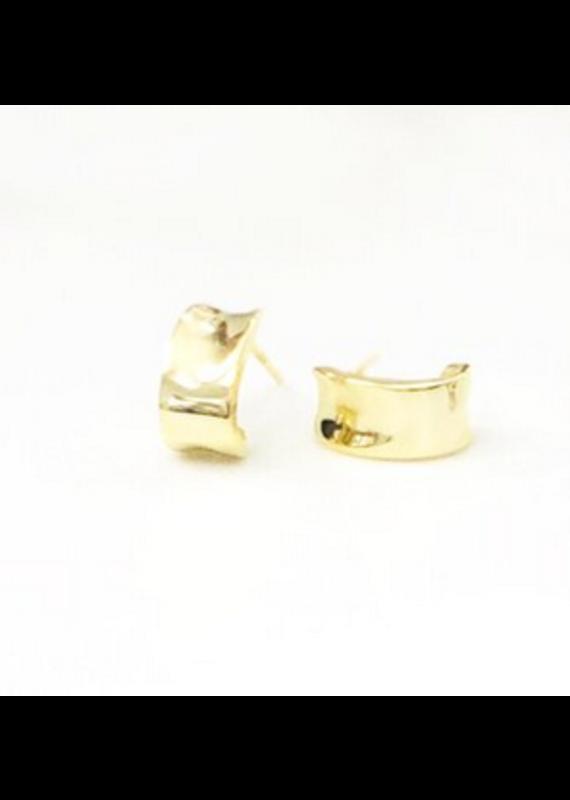 iiShii Designs Gold Polished Open Hoops