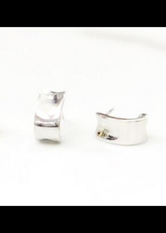 iiShii Designs Silver Polished Open Hoops