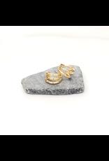 iiShii Designs Gold Triple Bar Hoops
