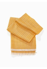 Look By M Herringbone Color Striped Scarf in Yellow