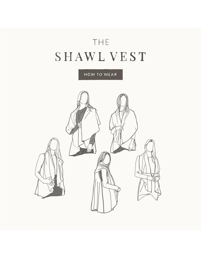Look By M Basic Denim Shawl Vest