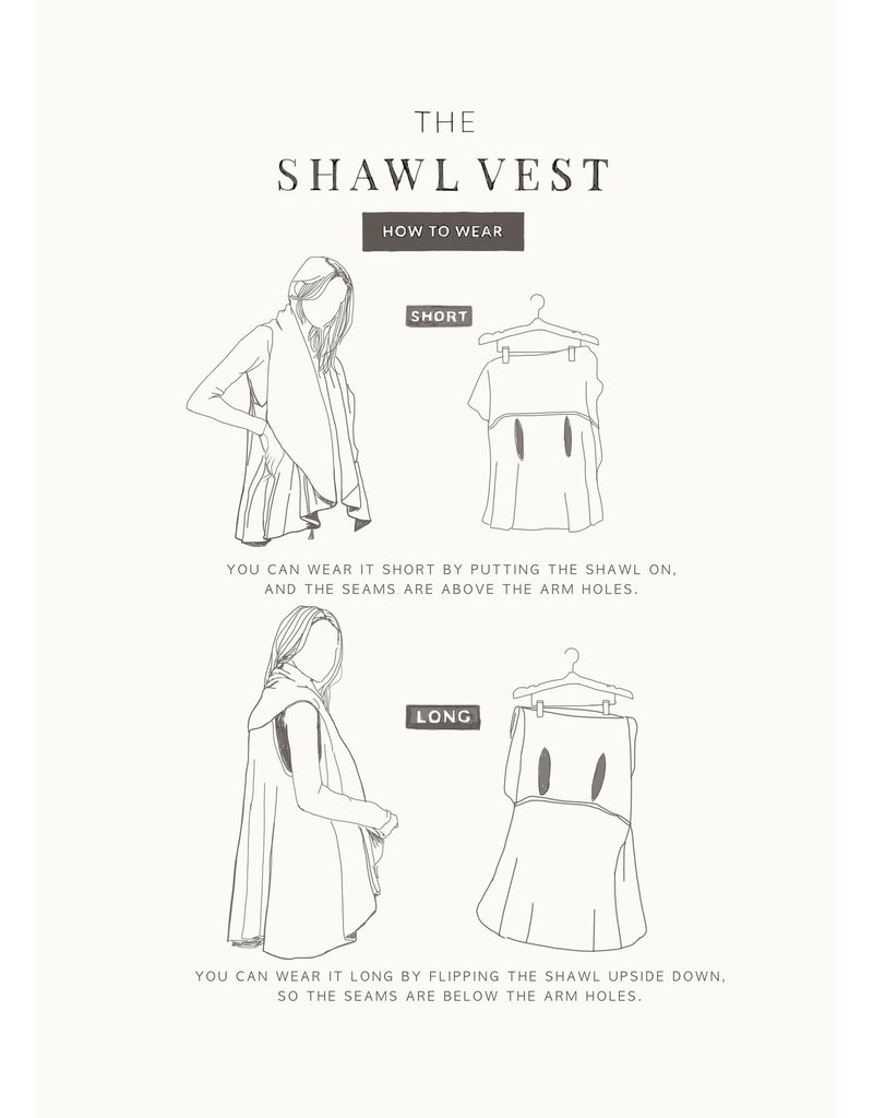 Look By M Basic Teal Shawl Vest