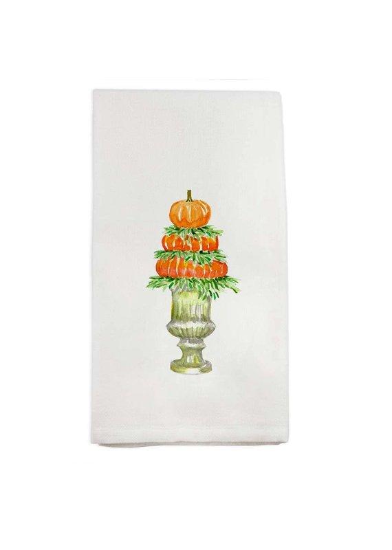 French Graffiti Pumpkin Topiary Dishtowel