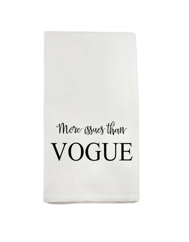 French Graffiti More Issues than Vogue Dishtowel