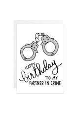 9th Letter Press Partner in Crime Mini Card
