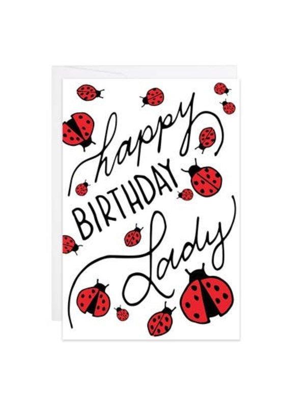 9th Letter Press HB Ladybug Mini Card