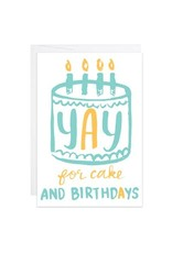 9th Letter Press Yay for Cake Mini Card