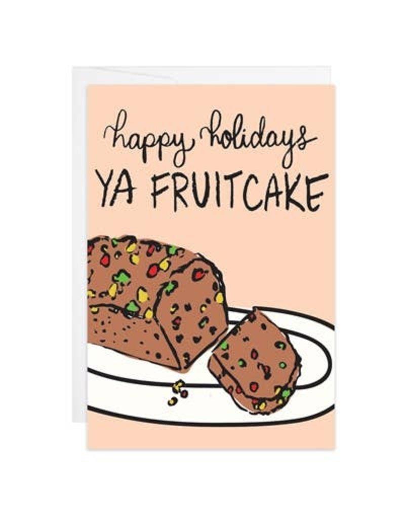 9th Letter Press Holiday Fruitcake Mini Card