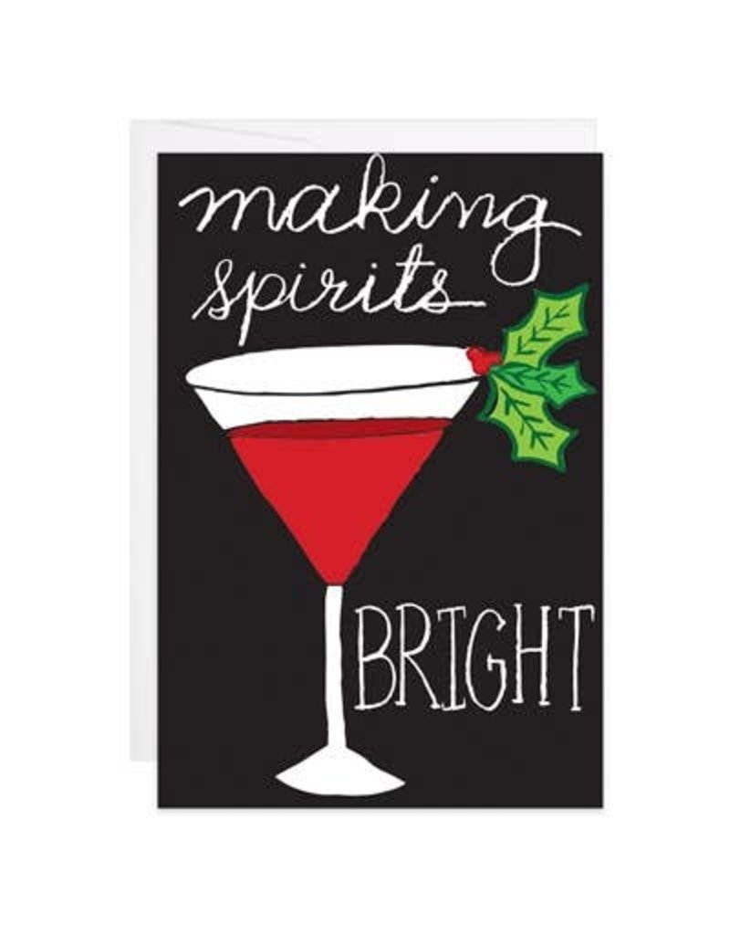9th Letter Press Making Spirits Bright Mini Card