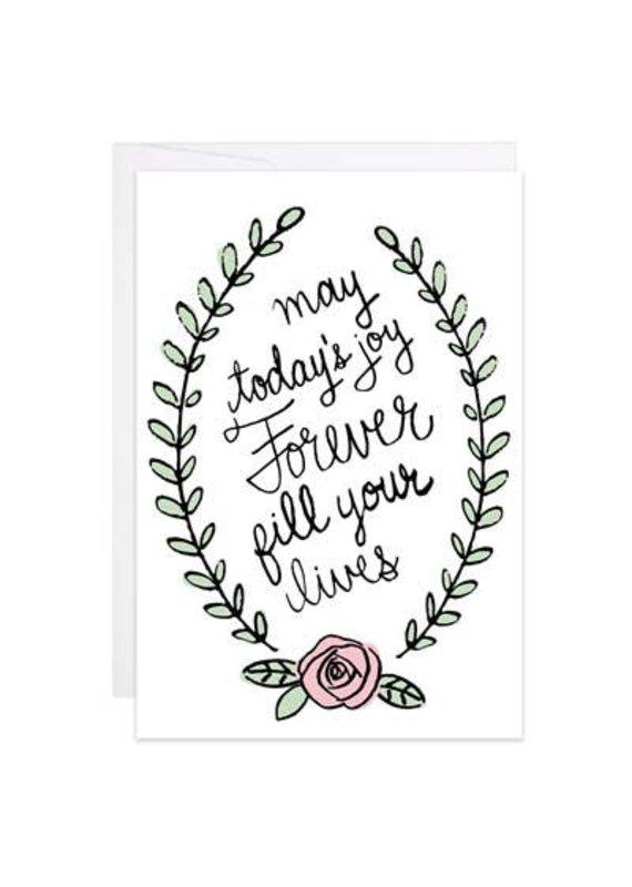 9th Letter Press Joy Forever Mini Card