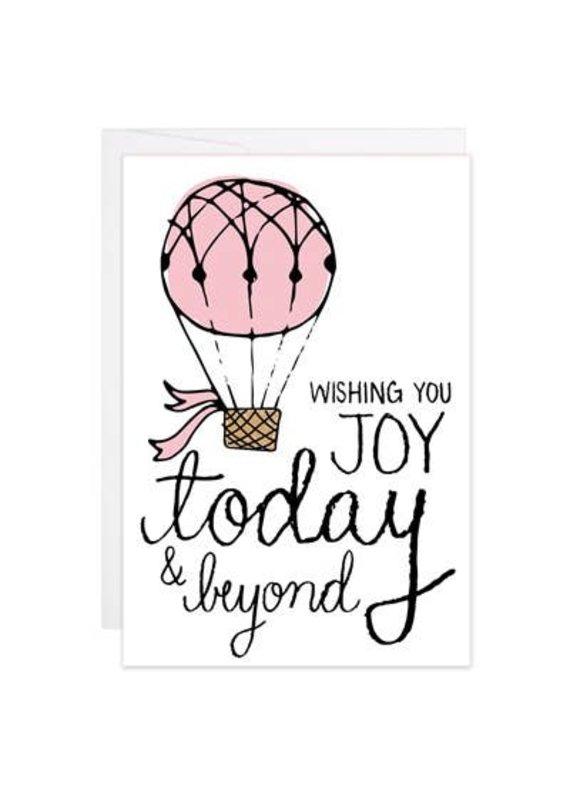 9th Letter Press Wedding Balloon Mini Card