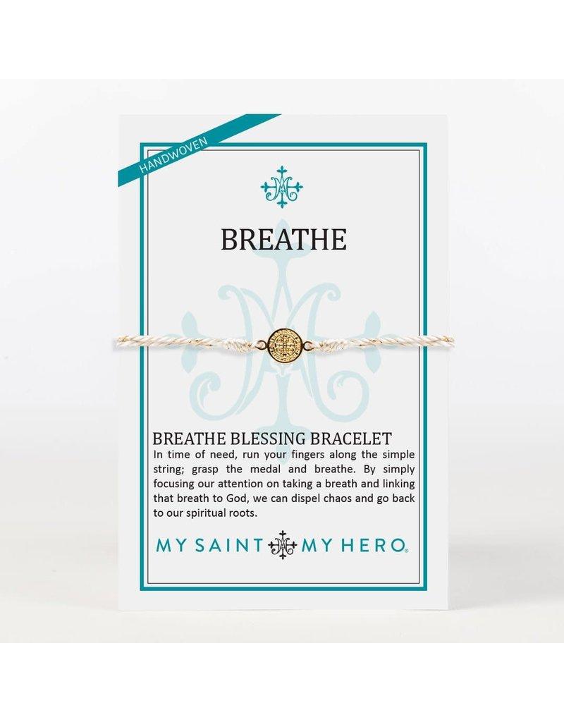 My Saint My Hero Gold Metallic Breathe Blessing Bracelet