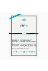 My Saint My Hero Black & Silver Filled by Faith Bracelet