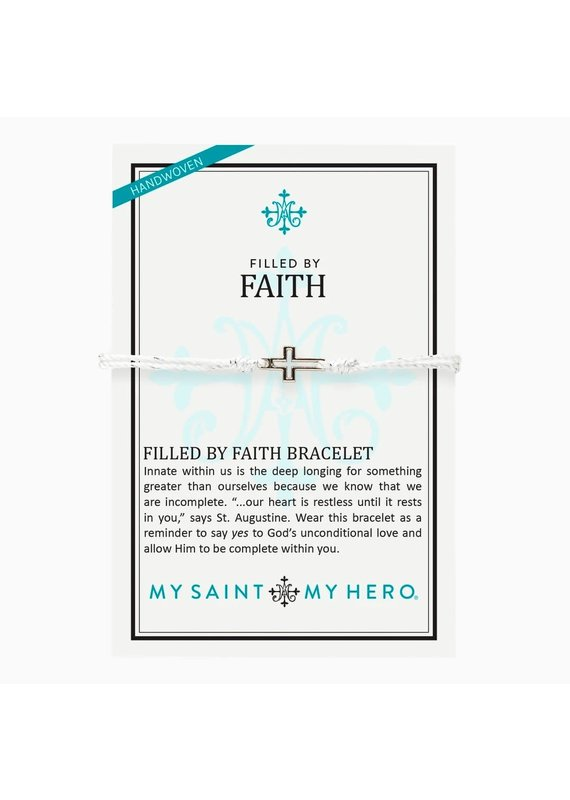 My Saint My Hero Metallic Silver Filled by Faith Bracelet