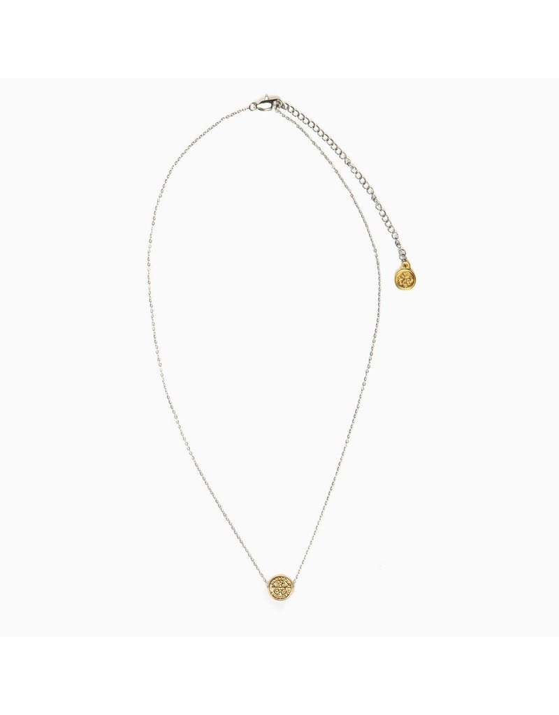My Saint My Hero Gold Benedictine Blessing Petite Necklace
