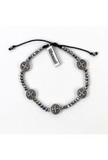 My Saint My Hero Silver Gratitude Crystal Bracelet